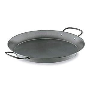 Lacor 60139 Paellera de Acero al Carbono | Antiadherente | Apta para Todas Las cocinas, Gas, Vitrocerámica, Inducción| Recubrimiento ecológico | Capacidad para 7 reciones | Ø 40cm, 40 cm