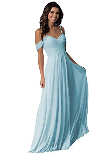 Elleybuy Sweetheart Neckline Bridesmaid Dresses,Off Shoulder Fromal Dress for Women Light Blue