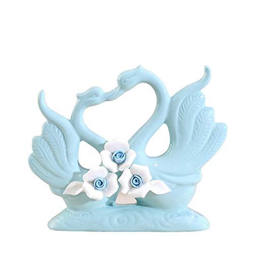 WGGTX Dekorative Ornamente Ursprünglichkeit Home Decoration Einrichtung Tabelle Tierornamentik Kunsthandwerk, Swan Büroeinrichtung