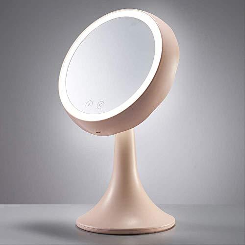 Kleine nachtlampje make-up spiegel met licht graden ring licht opladen Touch Mini eenzijdig dressoir spiegel
