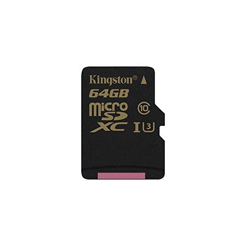 Kingston SDCG/16GB Gold Tarjeta de Memoria microSD de 16 GB con UHS-I Speed Class 3 (U3) y Adaptador SD