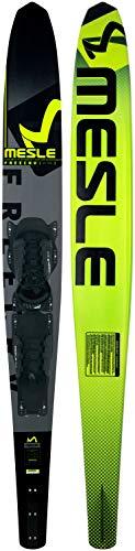 MESLE Monoski Freecarve 69\'\' mit B6 Bindung, Slalom Ski bis 120 kg, Tunnel Wasser-Ski für ambitionierte Slalom-Fahrer, mit Aluminium Finne, Länge 175 cm, grün