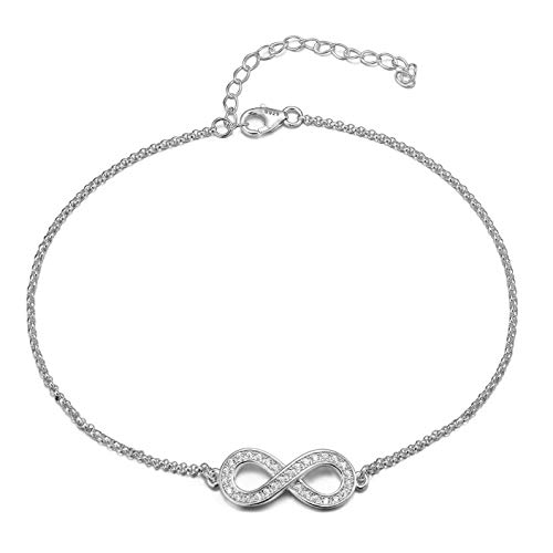Gorgeous elegant INFINITY/Bow ANKLET with DIAMANTES, STERLING SILVER Ankle bracelet will include pretty gift box