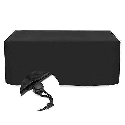 GHHQQZ Housse de Meuble Jardin Couverture Table Nappe Bâche Imperméable Anti-UV, Personnalisable (Color : Noir, Size : 300x100x150cm)