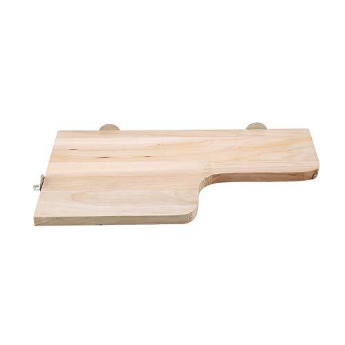 DaMohony En forma de L pequeña mascota de madera natural soporte de plataforma de juguete de salto de madera escalada trampolín juguete