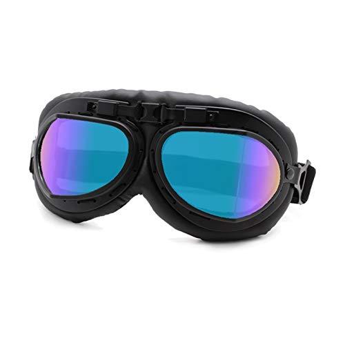 Gafas De Moto,Gafas De Motocross Gafas de motocicleta Gafas Vintage Motorbike Classic Retro Gafas for Harley Eyewear Protección Moto Motocross Gafas (Color : Retro Goggles 3 7C)