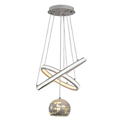 YUNZHI LED de Doble Cara Acrílico Pantallas de iluminación Moderno Minimalista Hierro Forjado Sala de Estar/Dormitorio/Contador/Restaurante Acogedor lámpara de la lámpara
