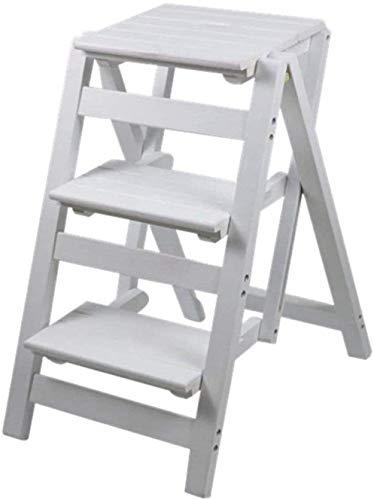 Aishang escalera de pintura taburete de madera maciza escalera taburete plegable Biblioteca pasos taburete madera cocina oficina escalera silla banco