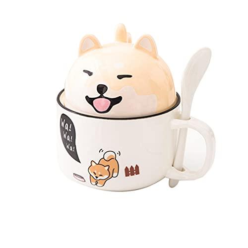 ZIYUEZIKUN Kaffee Keramik Tasse Porzellan Becher Shiba Inu Geschenk Weihnachten süß süß große Kapazität