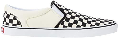 Vans Herren MN Asher Slip On Sneaker, Weiß Checkers Black Natural, 48 EU