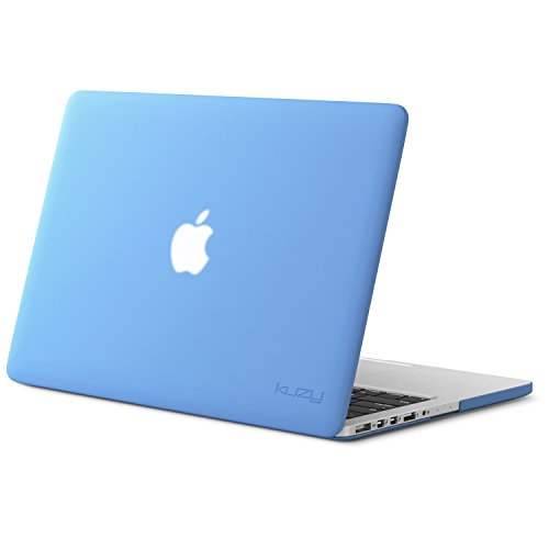 Kuzy - Older MacBook Pro 15.4 inch Case Model A1398 with Retina Display Soft Touch 15 inch Plastic Hard Shell Cover - Serenity Blue
