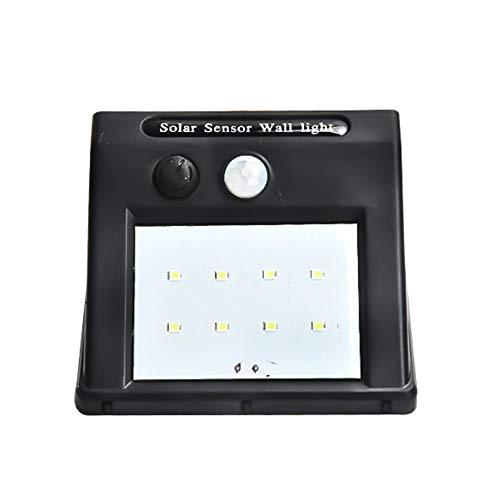 XUENUO zonnelampen voor buiten, 8 LED bewegingsmelder sensor straler bescherming van het milieu waterdichte wandlamp geschikt voor garage achtertuin balkon trappen