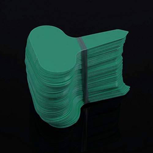 Natro 100 Piezas de plástico Tipo T para jardín, Adornos, Planta, Flor, Etiqueta, Etiquetas Gruesas para guardería, para Plantas, decoración de jardín, Verde
