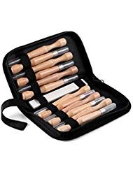 Wood Carving Tools, 12 Pieces SK7 Carbon Steel Crafting Chisel tools Woodworking Knife Tools Set with Storage Case for Rubber, Pumpkin, Soap, Vegetables