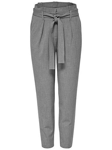 ONLY Damen Hose Lockere 3430Light Grey Melange