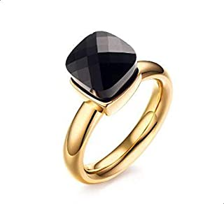 Gold ring with black stone size 8