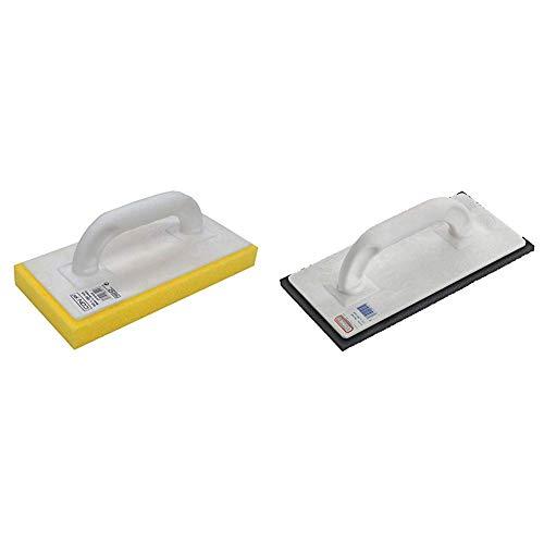 CON:P Fliesenwaschbrett mit Schwammauflage gelb, CP781335 & Connex Reibebrett Kunststoff 14 x 28 cm Zellgummi, COX781340