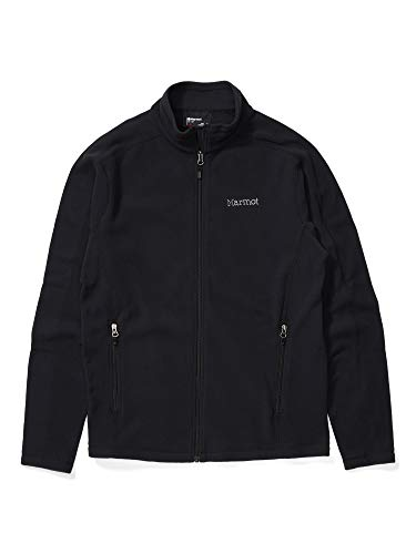 Marmot Men's Rocklin Full Zip Lightweight Fleece Jacket, Black, X-Large