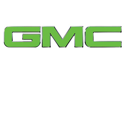 07-17 GMC FRONT or REAR Emblem Overlay Kit Denali, Yukon, Sierra, Acadia, Terrain 651 Lime Green Gloss EXTRA SHEET || High Quality, Outdoor Rated, Auto Wrap Vinyl