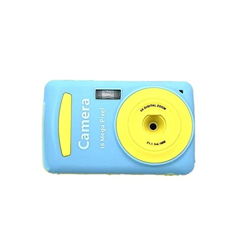 Great Price! Children's Durable Camera Practical 16 Million Pixel Compact Home Digital Camera Portable Cameras For Kids Boys Girls,Color:Blue,Ships From:Russian Federation,Bundle:Kids Camera ( Color : Blue )