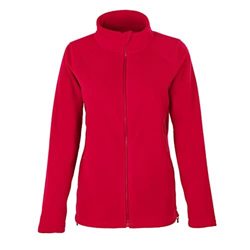 HRM Women´s Full- Zip Fleece Jacket, Rot, L, 1202