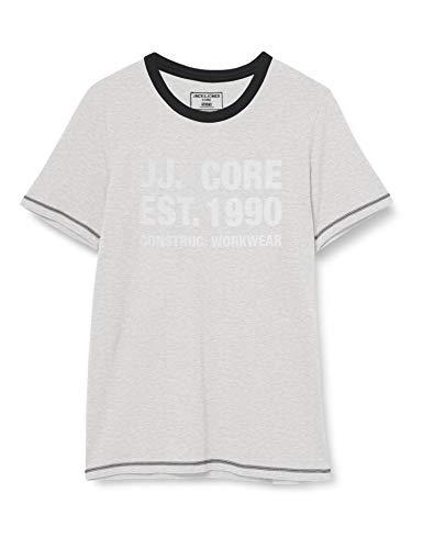 Jack & Jones JCOHUKE tee SS Crew Neck Camiseta, Color Blanco, L para Hombre