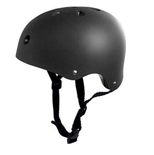 lhmlyl Fahrrad Helm Schutzhelm Erwachsene Kinder Fahrrad Fahrrad Fahrrad Roller BMX Skateboard Skate Stunt Bomber Radfahren-Schwarz_S 49-53 cm