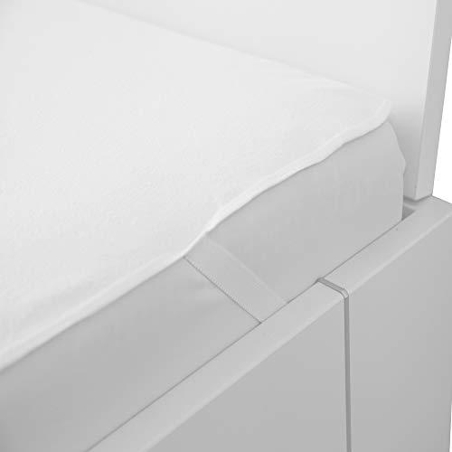 Bestlivings waterdichte matrasbeschermer in wit, frotte matrasbeschermer, incontinentie- fixspanbedekking 140 x 200 cm