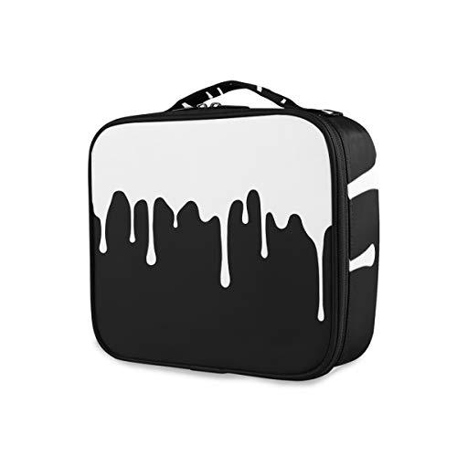 Trousse de toilette Outils de voyage Cosmétique Train Case Box Portable Simple Couleur Art Maquillage Sac De Stockage
