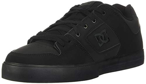 DC mens Pure Skate Shoe, Black/Pirate Black, 10.5 US