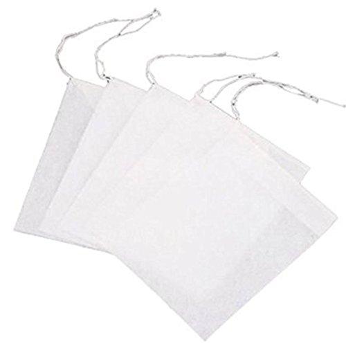Toruiwa Sachet de Thé Jetable Filtre Passoire Sac à thé Filtre Papier Sac de Poche Vide Sacs pour Herbes 10*15cm 100pcs