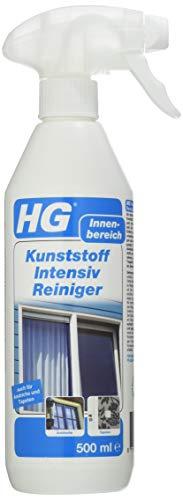 HG Kunststoff Intensiv Reiniger, (500 ml) – ein Kunststoffreiniger zur schnellen, effektiven Reinigung von Kunststoffen aller Art