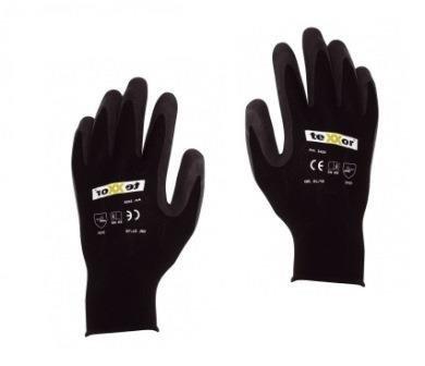Hufa Fliesenleger Nylon-Latex Strick Handschuhe schwarz L