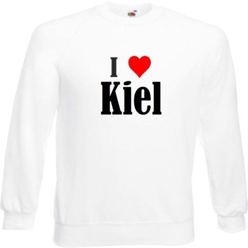 Reifen-Markt Sweatshirt I Love Kiel Größe 2XL Farbe Weiss Druck Schwarz