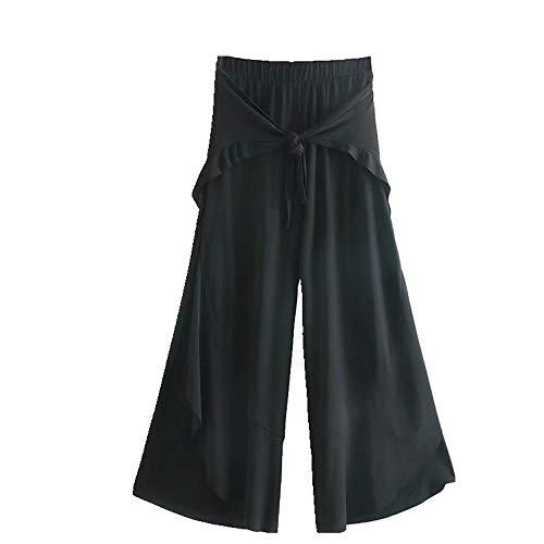 NOBRAND - Pantalones de verano versátiles y delgados con nudos