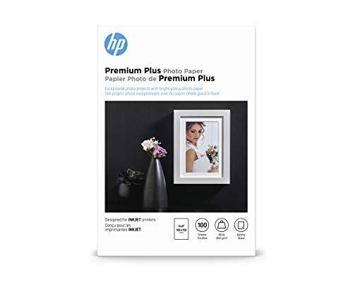 HP Premium Plus Photo Paper | Glossy | 4x6 | 100 Sheets