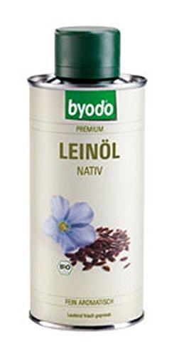 Leinöl, nativ, in der 250 ml Dose Byodo