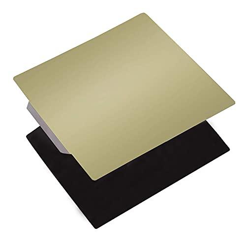 HzdaDeve Plataforma de acero flexible con superficie magnética PEI Sheet 220 x 220 mm 8,6 x 8,6 pulgadas para impresora 3D Anet A8 Wanhao I3