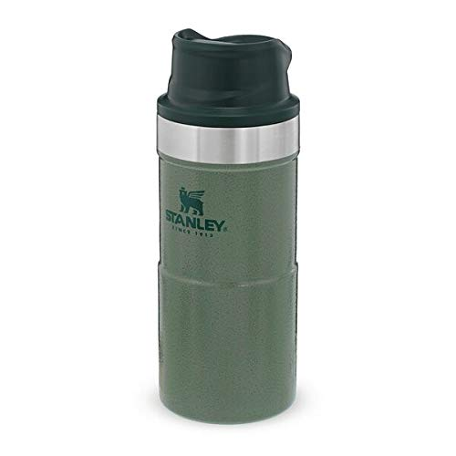 Stanley Trigger Action Travel Mug 0.35L / 12OZ Hammertone Green – Leakproof - Tumbler for Coffee, Tea and Water - BPA Free - Stainless-Steel Travel Cup - Dishwasher Safe - Lifetime Warranty