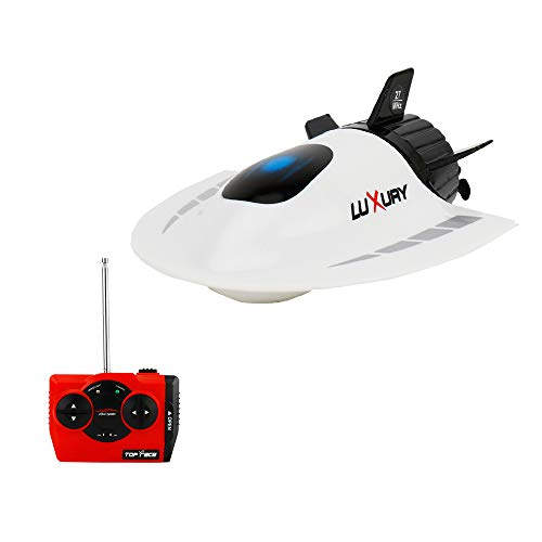 GoolRC Mini RC Submarine Boat, Remote Control Waterproof Diving Toy for Kids (White)