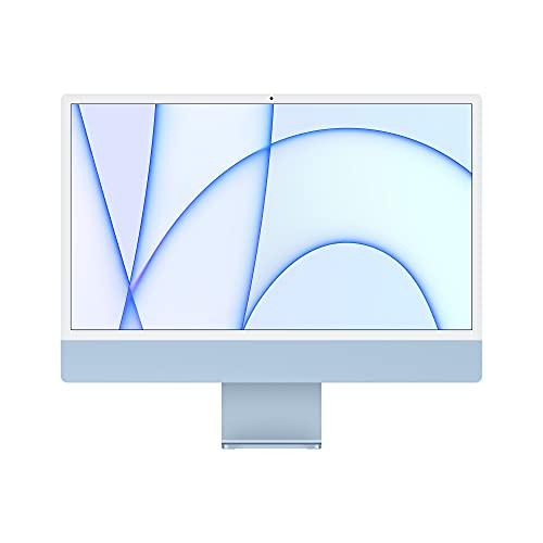 2021 Apple iMac (24インチPro, 8コアCPUと7コアGPUを搭載したApple M1チップ, 8GB RAM, 256GB) - ブルー
