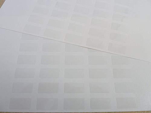 70 Petit Uni Transparent Plastique Durable Étiquettes 20x10mm (0.8 \