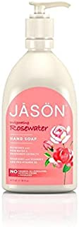 Jason Rosewater Liquid Satin Soap 480ml - ジェイソン?ローズウォーター液体サテンソープ480ミリリットル [並行輸入品]