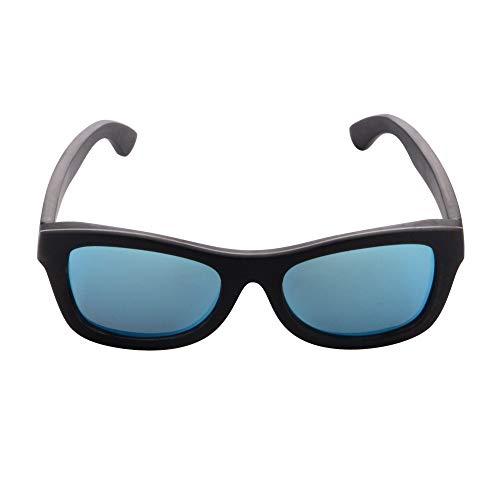 SHINU Occhiali da sole in legno di bambù polarizzati montatura in legno UV400 Summer Eyewear per gli uomini donna-SG6001 ebano e alluminio M