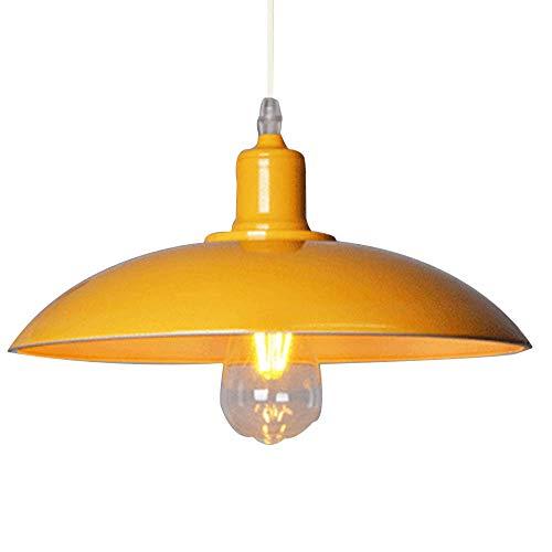 Creatividad Lámpara de Techo Metal E27 Lámpara de araña Simple Retro Hierro Colgante de Luz para Dormitorio Sala Comedor Estudiar Restaurante,Amarillo