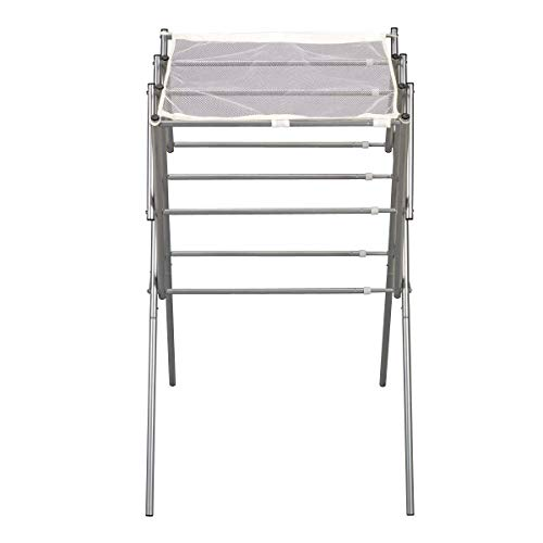 StarSun Depot Expandable Indoor Clothes Laundry Drying Rack in Silver Metal