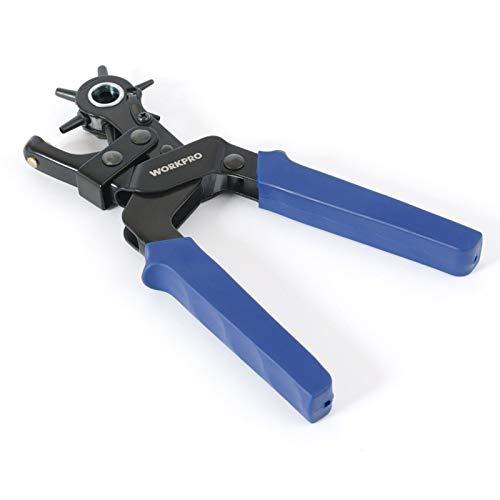 CHUN LING Perforadora de cinturón, Artesano Experto Que perfora fácilmente, Mejor Perforadora de Cuero Profesional, para Reloj, Calzado, Correa de Bolso