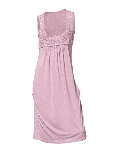 Heine - Best Connections Damen-Kleid Kleid mit Spitze Rosa Größe 38