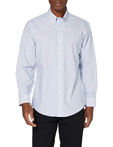 Brooks Brothers Herren Camicia Formale Hemd mit Button-Down-Kragen, Marine, 16 34