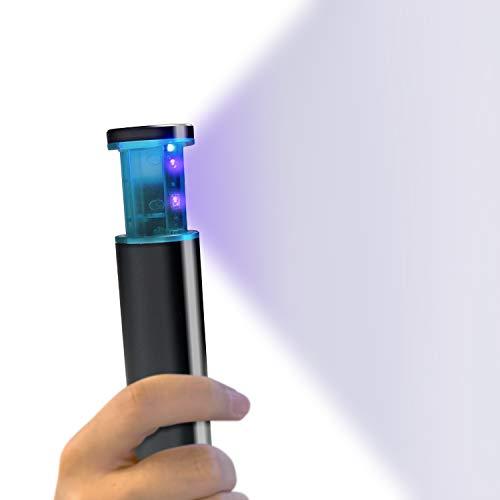 ZeonKlick Bacchetta igenizzante disinfettante UVC portatile, alimentata a batteria, per viaggi, pasti, uso domestico, elimina il 99% di germi, virus e batteri